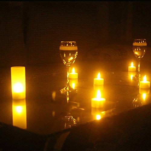velas de LED, Luz recargable de la vela, Un conjunto de 12 LED de luz de té sin llama Con la estación de carga, Para Festivales Bodas Confesión Romántica Decoración de Cumpleaños de Navidad (No hay Baterías Necesarias) (Yellow)