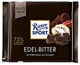 9x Ritter Sport - Bunte Vielfalt Edel-Bitter, 73% Kakao - 100g