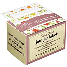 Box of 100 Kitchen Craft Jam Jar Preserve Labels Self-Adhesive jellies marmalade by KitchenCraft