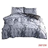 Floridivy 2 / 3pcs Marble Lines Matratze Bettdecke Kissen Set-Kissenbezug drucken Hotel Gästezimmer Bedding Kit