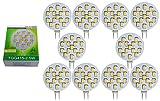 10 x Trango LED Leuchtmittel dimmbar G4 12V AC/DC ca. 2.5 Watt warmweiss TGG415-2.5W
