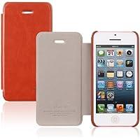 tinxi® Premium Kunstleder Flipcase für Apple iPhone 5C Tasche Case Flipcover Hülle braun