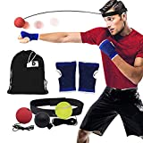 DAZISEN Boxen Training Ball - Reflex Fightball Anzug Speed Fitness Punch Boxing Ball mit Kopfband Trainingsgerät Speedball für Zuhause und Outdoor, 7 Stück Anzug