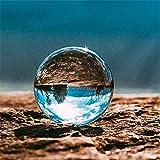 DOXMAL K9 Kristallkugel Glaskugel Fotografenqualität Glaskugeln Klarer Kristallball Künstliche Dekoration Art für Fotografie Weihnachten Geschenk (100mm)