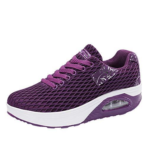 Dragon868 Scarpe Donna, Mesh Sneaker Zeppa Scarpe comode per Camminare Stivali Outdoor
