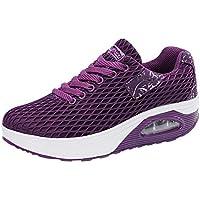 Mujer zapatos deportes de malla correa,Sonnena ❤️ Zapatillas deportivas ocasionales de malla al aire libre para mujer Zapatos de cojín de aire de suela gruesa Zapatillas