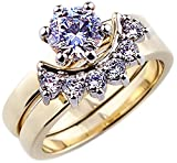 Ah! Jewellery. 1.75ct Women's fantastic 6mm Simulated Diamonds 2pcs ring set. Outstanding quality.