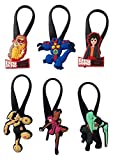 Big Hero Silicone Snap Lock Zipper Pulls 6 Pcs Set #1