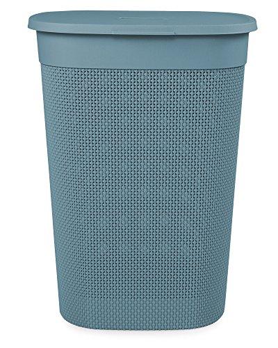 Ondis24 Wäschebox Wäschekorb Filo, gut belüftet, neues italienisches Design, edle Verarbeitung aus Kunststoff 55 Liter (blau)