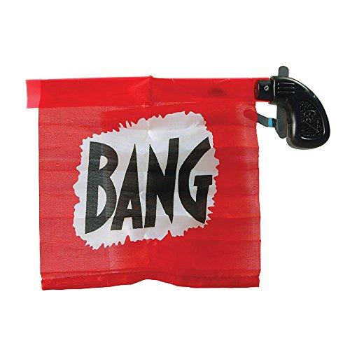 8Flagge Bang Gun Partyzubehör-Set, Rot/Schwarz, Einheitsgröße (Rote Und Schwarze Clown Kostüm)
