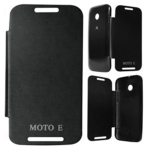 DMG Flip Book Diary Cover Hard Back Case for Motorola Moto E XT1022 (Black)  available at amazon for Rs.199