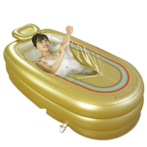 Aufblasbare Badewanne Badewanne Sauna Wellness Center überdimensionierte Chaiselongue aufblasbare Badewanne nach Haushalt dicke Kunststoff faltbare Badewanne und Dusche und warme Badewanne Cyhione