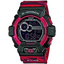 CASIO G-SHOCK GLS-8900CM-4ER - Reloj de cuarzo con correa de resina para hombre, color rojo / negro