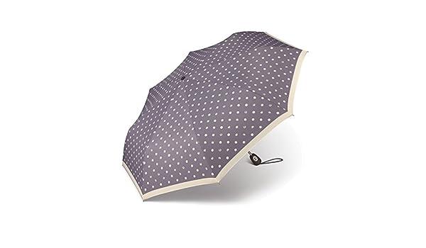 pierre cardin Regenschirm Taschenschirm Auf-Zu Automatik Easymatic Gouttelette Tr/öpfchen grau