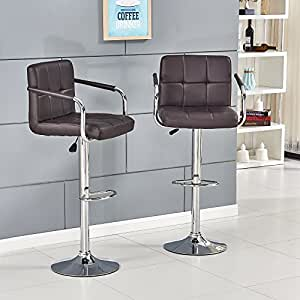 Bar Stools With Backs And Arms Willstone Kitchen Breakfast Chairs With Adjustable Swivel Gas