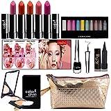adbeni Combo Makeup Set (10 Color Eyeshadow,Eyeliner Lipgloss Pallet 12 Color,Kajal