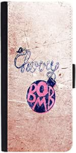 Snoogg Cherry Bombdesigner Protective Flip Case Cover For Samsung Galaxy S6 Edge
