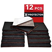 NON SLIP FURNITURE PADS X-PROTECTOR – FLOOR PROTECTOR - 12 pcs 75mm Best Floor Protector Pads - Rubber Feet for Furniture Feet – Ideal Floor Protectors for Keep in Place Furniture. STOP YOUR FURNITURE