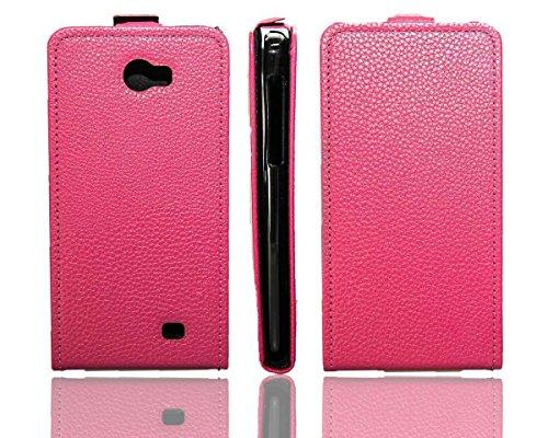 caseroxx Hülle/Tasche Flip Cover passend für Kazam Trooper 2 5.0, Schutzhülle (Handytasche klappbar in pink)