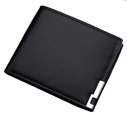 Bevalsa Vintage Marron Portefeuille pour homme en PU cuir Porte monnaie avec poche à monnaie et porte-carte amovible compartiment à fermeture pour carte d'identité permis de conduire Carte de Créd