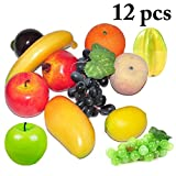 outgeek 12PCS Frutta Artificiale Simulazione Realistica Frutta Home Decor Frutta Finta