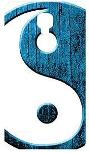 Yin Yang Blue Martial Arts Symbol Black Flip Case for Samsung Galaxy I9190 / SIV / S4 Mini
