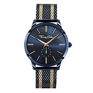 495f1e8a5b5 THOMAS SABO Men Men s Watch Rebel Spirit Stainless Steel Blue Ion-Plated Mesh  Bracelet with