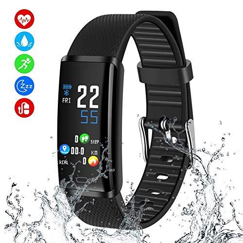 MINLUK Fitness Armband mit Blutdruckmesser Sauerstoffüberwachung Pulsmesser Fitness Tracker Aktivitätstracker Schrittzähler IP67 wasserfest Kalorienzähler Kamerasteuerung Schlafmonitor