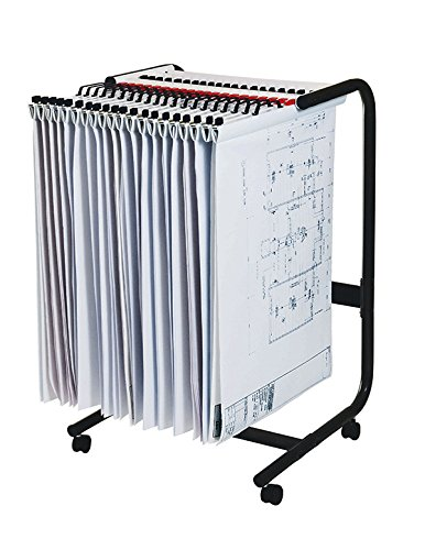Mobile Storage-systeme (A12000planhorse Mobile Trolley für A1, A2Papier Aufbewahrung Darin, Pläne Büros, Büro, Zeichnen Management)