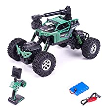 RCG Racing 948945 Remote Control Camera, High Speed Racing Off-Road 2 Rechargeable Batteries, Waterproof RC Monster Trucks Buggy Vehicle Electric Toy Cars for All Kids Boy