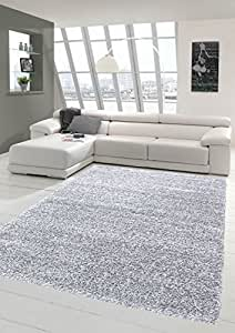 Shaggy tapis Shaggy pile longue tapis tapis de salon Patterned en Uni Conception Gris Größe 200 x 290 cm
