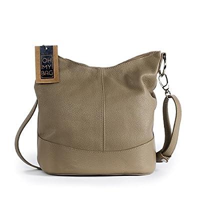 OH MY BAG SOLDES Sac bandoulière Cuir porté épaule bandoulière et de travers femmes en véritable cuir fabriqué en Italie - modèle BEAUBOURG SOLDES