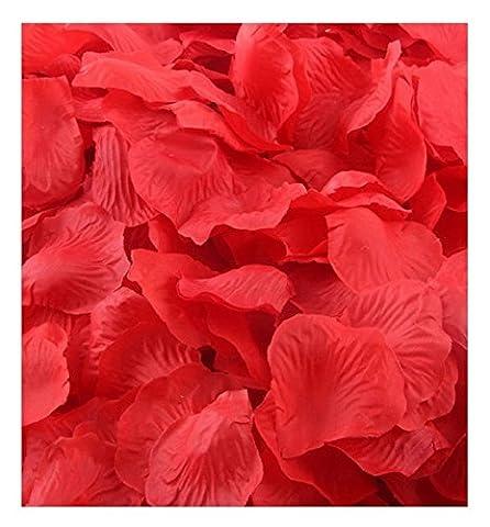 Ularma 1000pcs multicolore soie artificielle pétales de Rose Flower Party