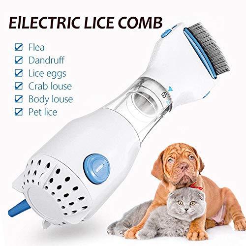 LONG-C Elektrische Flohkamm Hundebürste Sichere Haustier Kopfläuse Tötet HaarreinigerFür Katzen Hunde Physikalische Floh Zecke Erfassen Kamm Heimtierbedarf