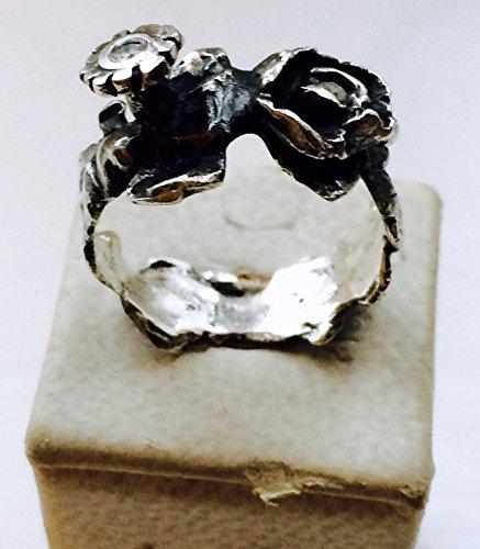 (Garland Ring, Silber, Diamanten)