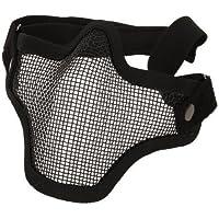 Kingwin elástica ajustable Cinturón Correa Acero media cara máscara protectora de malla (negro)