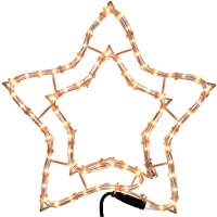 WeRChristmas Star Rope Lights Silhouette Christmas Decoration, 34 cm - Large, Multi-Colour