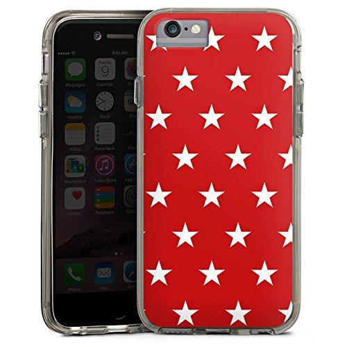 Apple iPhone X Bumper Hülle Bumper Case Glitzer Hülle Pattern Muster Sternchen Bumper Case transparent grau
