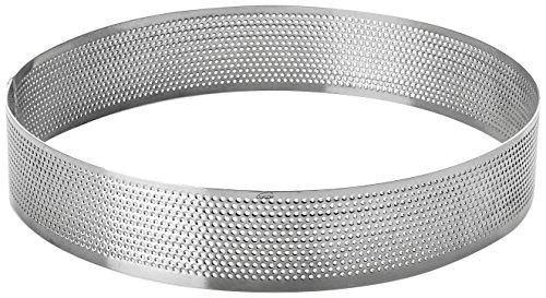 Lacor 68538 Cercle Rond perforé d 18 h 2 cm, Acier Inoxydable, Gris, 18 cm