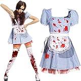 Maboobie - Disfraz de criada sirvienta zombie sexy para mujer Fiesta Temática Carnaval Halloween