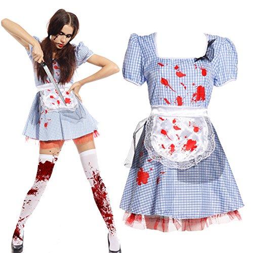 Imagen de maboobie  disfraz de criada sirvienta zombie sexy para mujer fiesta temática carnaval halloween
