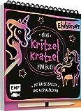 Mein Kritzel-Kratzel-Malbuch - Einhörner: Mit Rätselspielen und Ausmalbildern