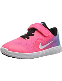 best cheap 7a0e5 089a0 NIKE Girls  Revolution 3 (TDV) Chlorine Blue White-Racer Pink-