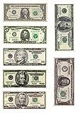 1x A4bedruckt mit separatem Dollar Rechnungen Geld Decor Zuckerguss Blatt essbar Cake Topper verziert Blatt–7verschiedene Dollar Rechnungen