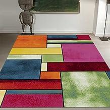 Amazon Fr Tapis Salon Multicolore