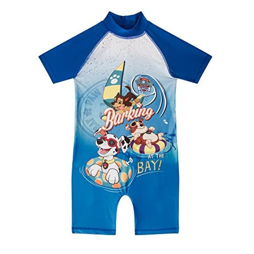 As-Available-Boys-PAW-Patrol-Surf-Suit-Swimsuit-Swimming-Costume-Childrens-Swimwear-Age-1-10-Years