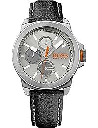 BOSS Orange Herren-Armbanduhr NEW YORK Multi Analog Quarz Leder 1513156