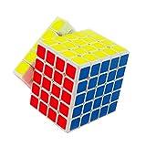HJXDtech-Moyu Bochuang GT 5x5x5 cubo mágico Gran Tolerancia a fallos Borde anti-vuelo cubo de la velocidad (blanco)