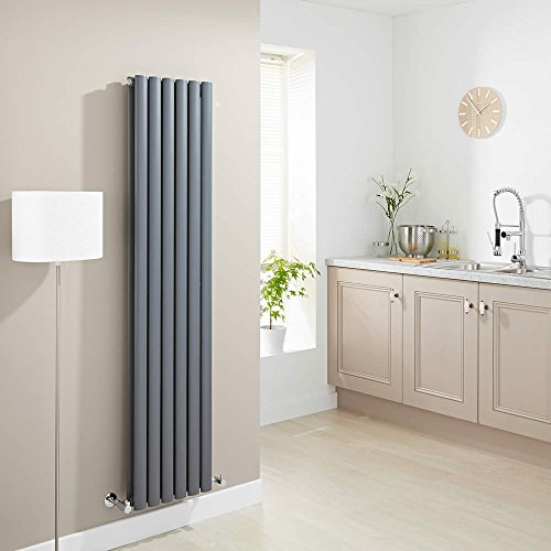 Milano Hudson Reed Vitality - Radiateur Design Vertical - Anthracite - 160 x 35,4cm Double Rang