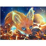 sunnymi 5D Diamant Full Malerei, Sonnenuntergang Diamant Zeichnung DIY Stickerei Painting Kreuz Stich Diamond Dekoration 30 * 30CM (Fuchs, 30 * 40cm)